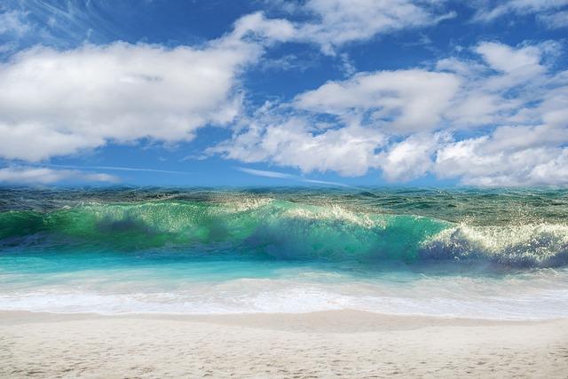Beach, Wave, Sky, Clouds, Summer, Costa, Landscape