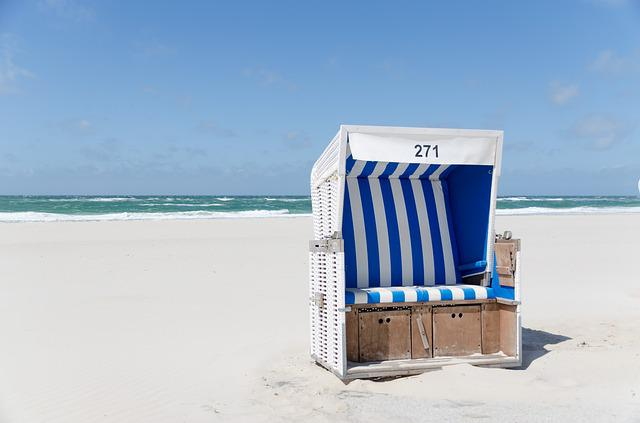 Beach Chair, Beach, Westerland, Sylt, Sand, Sky, Clouds