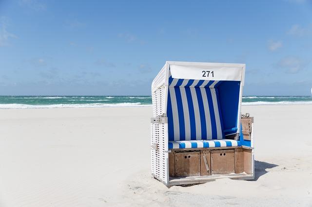 Beach Chair, Beach, Westerland, Sylt, Sand, Sky, Clouds