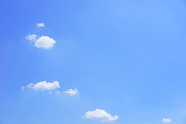 Cumulus Clouds, Clouds, Cumulus, Summer Day, Sky, Blue