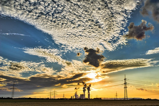 Sky, Clouds, Landscape, Sun, Evening Sky, Sunset, Blue