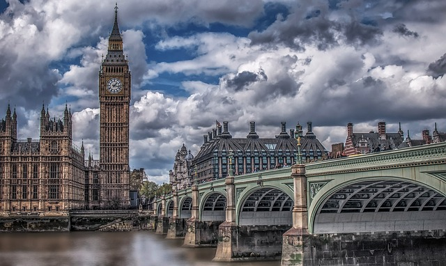 London, Big Bang, Bridge, Clouds, Dramatic, Water