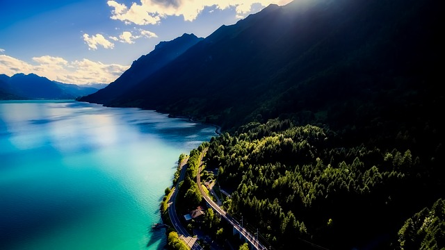 Brienz Lake, Switzerland, Sky, Clouds, Landscape