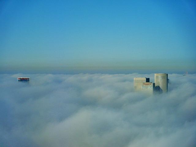 Skyscraper, Clouds, Building, Urban, Sky, Israel