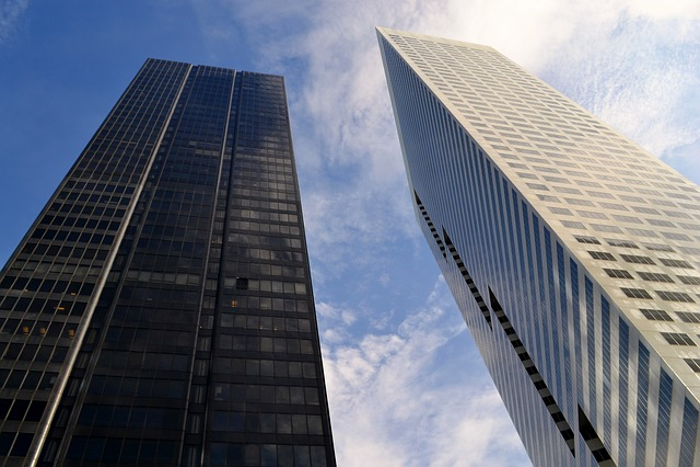 Houston, Texas, Business, Economy, Sky, Clouds