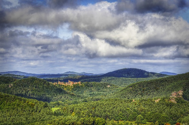 Hdr, Palatinate, Castle, Burgruine, Wild, Clouds