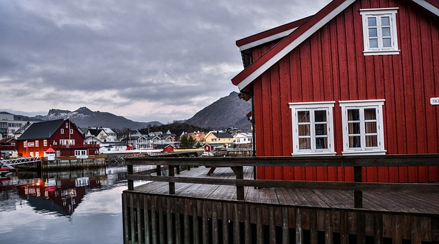 Lofoten, Norway, Cloudy, Clouds, Fall, Hdr, Landscape