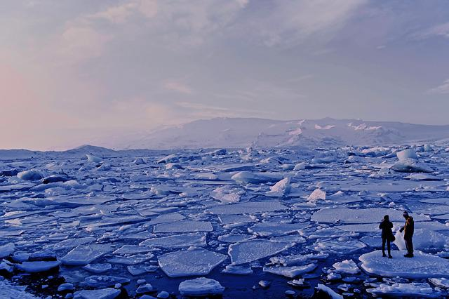 Clouds, Cold, Ice, Iceberg, Mountain, People, Snow