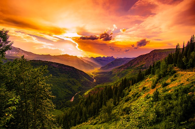 Montana, Sunset, Dusk, Sky, Clouds, Beautiful, Colors