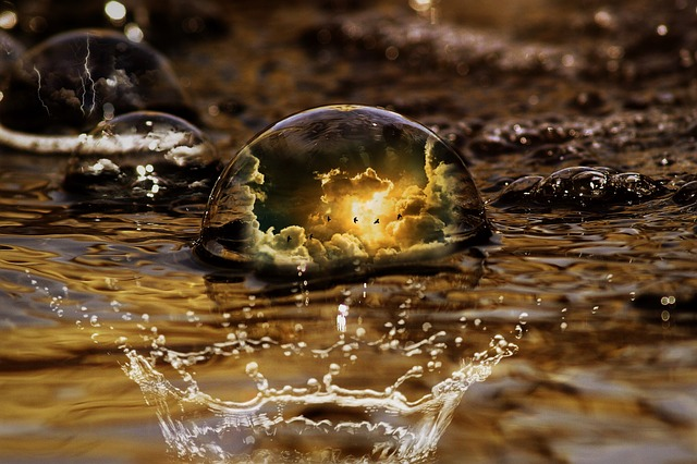 Water, Clouds, Drop Of Water, Water Ball