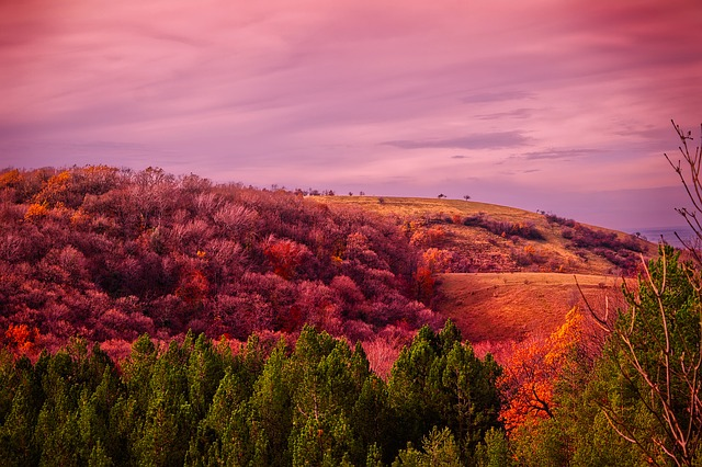 Serbia, Hills, Mountains, Sunset, Dusk, Sky, Clouds
