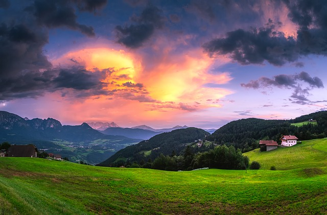 Italy, Sunset, Dusk, Sky, Clouds, Landscape, Scenic