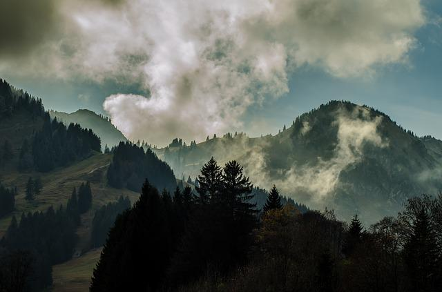 November, Mood, Gloomy, Landscape, Clouds, Fog