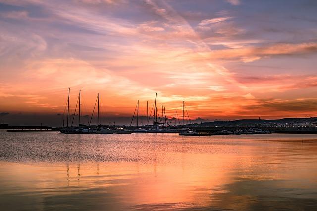 Sea, Dawn, Porto, Holiday, Landscape, Boats, Clouds