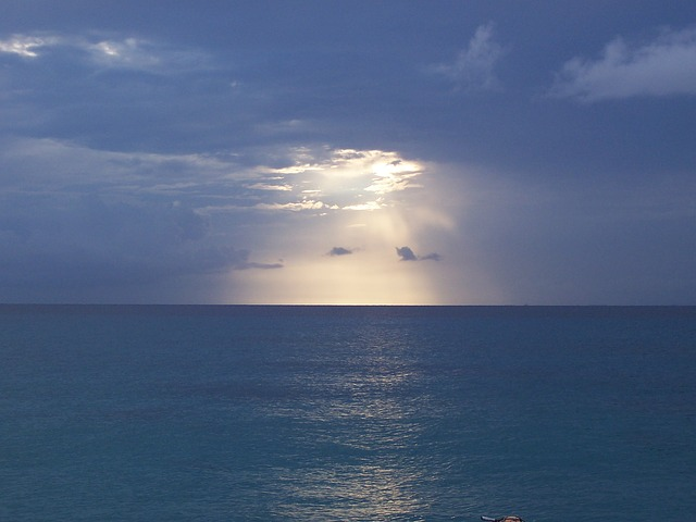 Sea, Sunset, Marine, Clouds, Horizon, Calm Sea