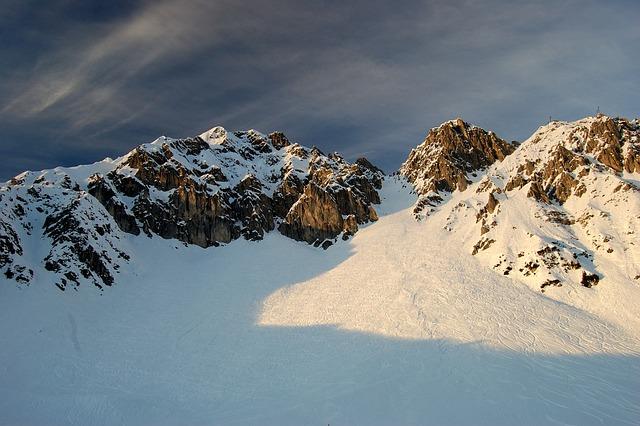 Innsbruck, Mountains, Evening Sun, Snow, Sky, Clouds
