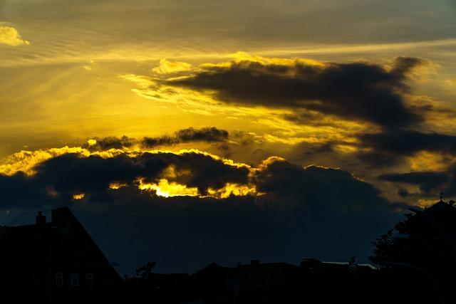 Sunset, Kappeln, Clouds, Mecklenburg, Sky, Sun, Yellow