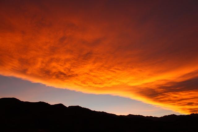 Sky, Sunset, Mountain, Clouds, Cloud