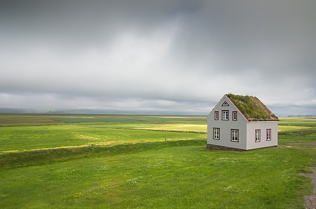 Iceland, House, Landscape, Nature, Clouds, Countryside