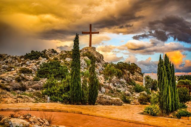 Hill, Cross, Nature, Sky, Clouds, Sunset, Travel, Trees