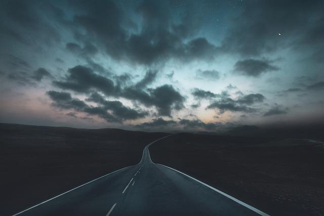 Landscape, Road, Sky, Clouds, Sunset, Light, Travel