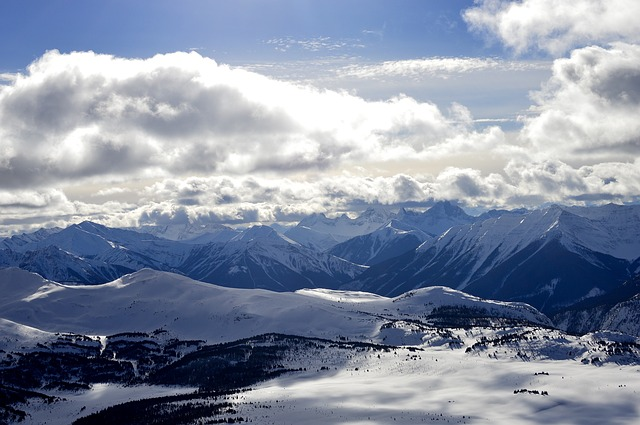 Banff, Sunshinevillage, Mountains, Rockies, Clouds