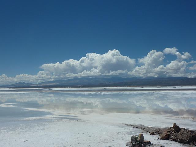 Argentina, Salt Flats, Clouds, Nature, Mirroring, Sky