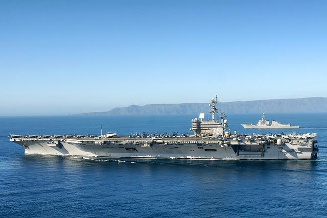 Uss Ronald Reagan, Aircraft Carrier, Sky, Clouds
