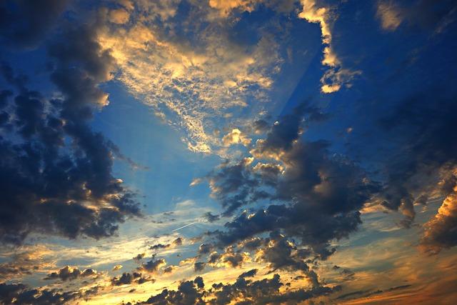 Sky, Clouds, Sunset, Evening, Evening Sky, Bright