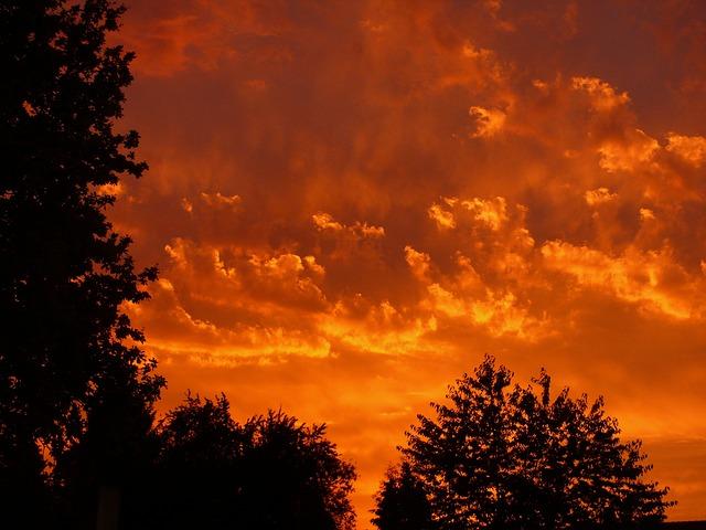 Sunset, Red, Clouds, Sky, Evening, Evening Sky