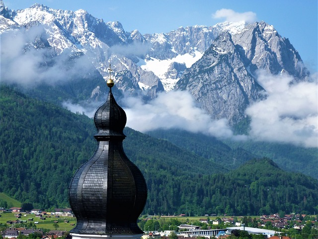 Zugspitze, Mountains, Snow, Summit, Clouds, Sky