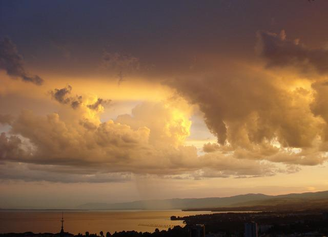 Rain, Clouds, Sky, Twilight, Lausanne, Stormy, Storm