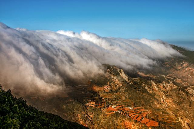 Landscape, Nature, Tenerife, Clouds, Wolkenwand, Sky