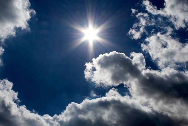 Sky, Sunbeam, Summer, Clouds