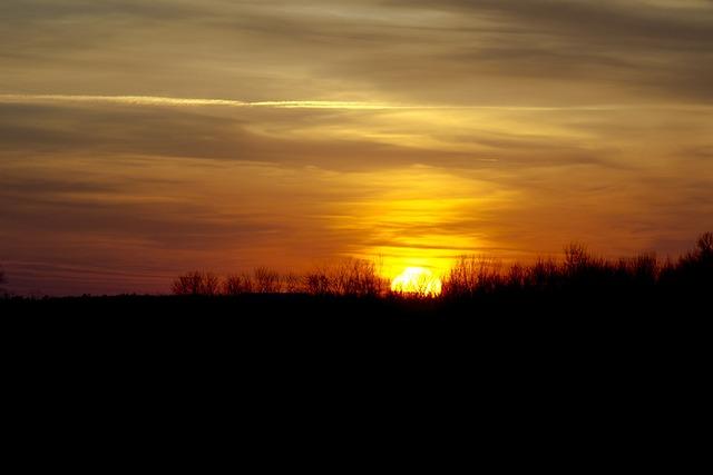 Sunset, Warm, Clouds, Sun, Orange, Light, Sunshine