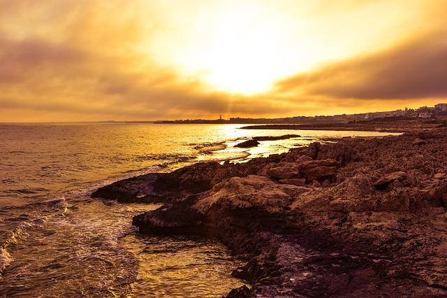 Sunset, Hazy, Sky, Clouds, Sun, Landscape, Weather