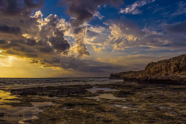 Sea, Sky, Clouds, Dramatic, Sunset, Nature, Landscape