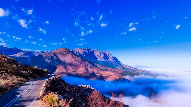 South Africa, Panorama, Sky, Clouds, Trail, Road
