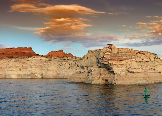 Glen Canyon, Utah, Landscape, Scenic, Sky, Clouds