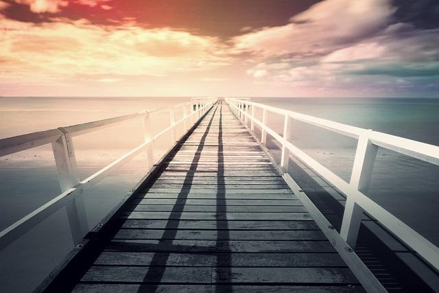 Pier, Web, Sea, Sky, Ocean, Sunset, Clouds, Atmosphere