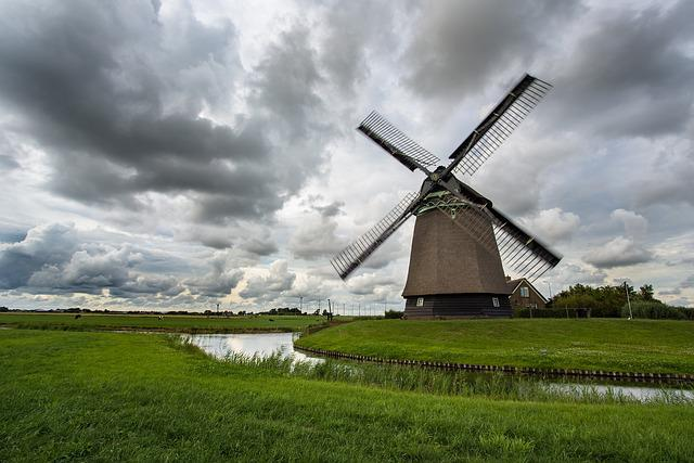 Windmill, Movement, Wind, Technology, Clouds