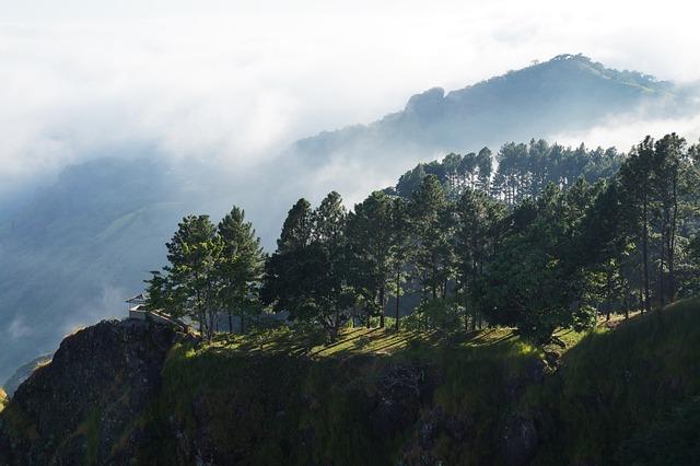 El Salvador, Pimp Hill, Mountains, Cloudy, Hill, Mist