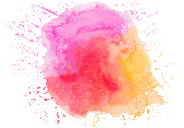 Watercolour, Pink, Orange, Red, Cloudy, Spray