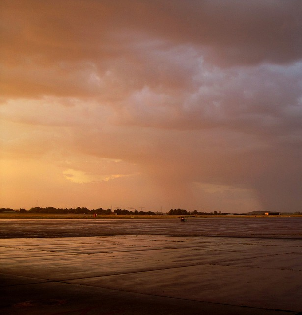 Glow, Sunset, Pinky-gold, Light, Cloudy, Wet