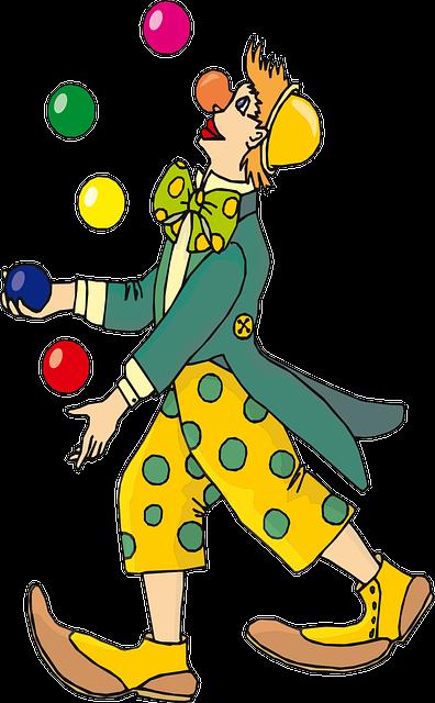 Circus, Clown, Laughing, Juggling, Juggle, Juggler