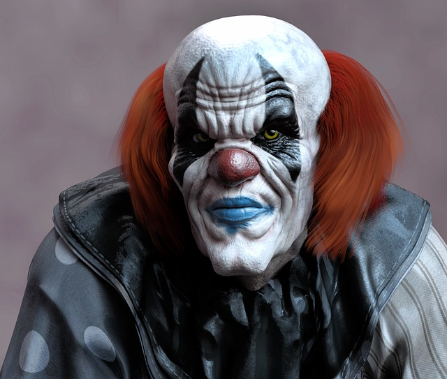 Portrait, Clown, Evil, Horror Clown, Creepy, Face