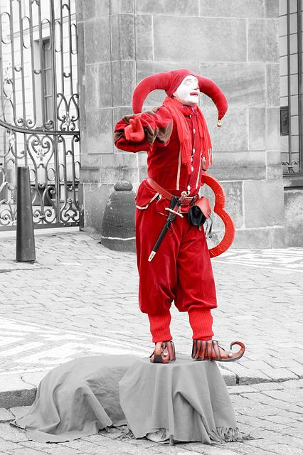 Harlequin, Clown, Prague