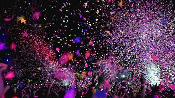 Concert, Confetti, Party, Event, Club, Fun, Music