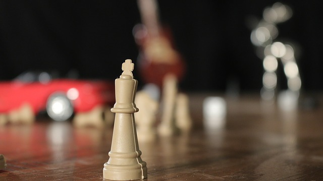 Chess Piece, King, Toys, Clutter, Red Car