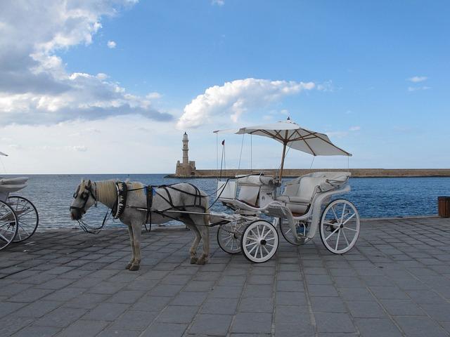 Coach, Horse, Horse Drawn Carriage, Wagon, Lighthouse